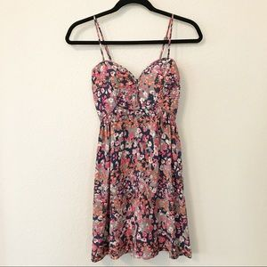 Parker silk floral dress sz XS